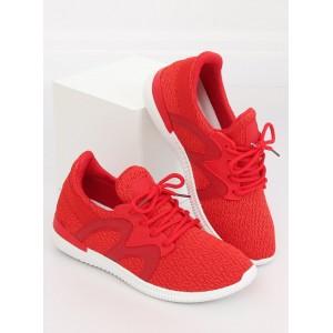 Červené dámské tenisky na letní období