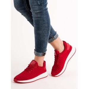 Stylové dámské tenisky v červené barvě
