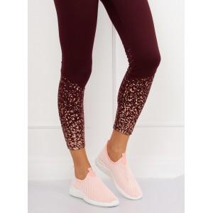 Dámské síťované tenisky růžové barvy