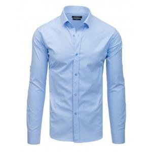 Stylová pánská světle modrá jednobarevná košile