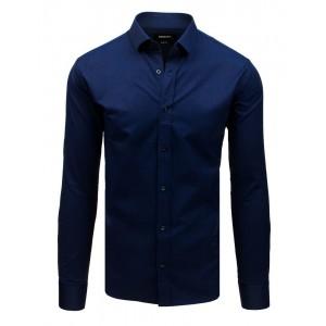 Elegantní pánská tmavě modrá košile s dlouhým rukávem