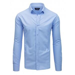 Společenská pánská košile světle modré barvy se zapínáním na knoflíky