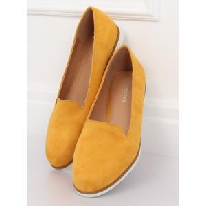 Trendy dámské semišové mokasíny v krásné žluté barvě