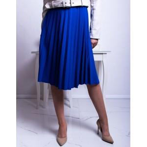 Stylová královsky modrá dámská midi plisovaná sukně