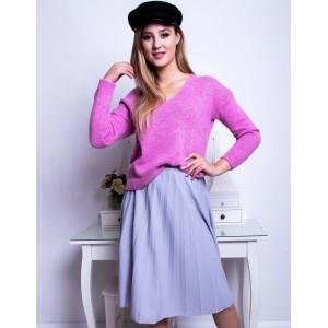 Světle fialová dámská midi sukně plisovaná