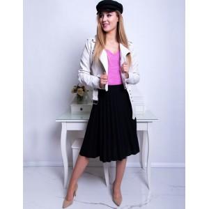 Společenská dámská černá midi plisované sukně