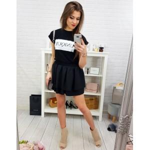 e36fc3267cb7 Dámská mini černá sukně ze dvou ...