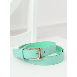 Krásný pastelově zelený dámský pásek pro zvýraznění outfitu