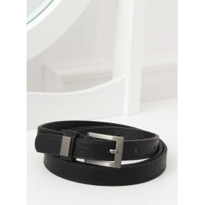 Elegantní černý dámský úzký pásek