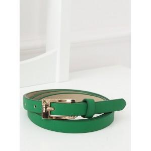 Dámský zelený pásek s ozdobnou zlatou přezkou s kamínky