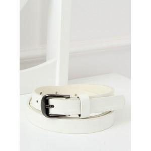 Elegantní dámský bílý pásek s jemným potiskem