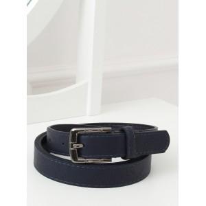 Sportovní dámský tmavě modrý dámský pásek s kovovou sponou