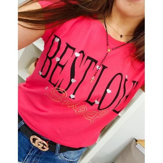 ad1637ae8091 Krásné letní dámské tričko v trendy malinové barvě
