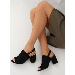 Letní dámské sandály na vysokém stabilním podpatku