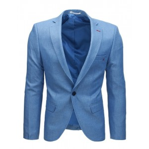 Pánské sako v modré barvě