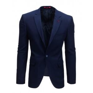 Sportovně elegantní jednobarevné pánské tmavě modré sako