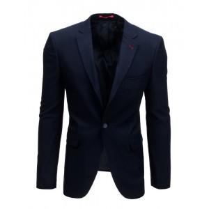 Granátově modré pánské sako na volný den