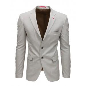 Trendy pánské béžové sako slim fit střihu