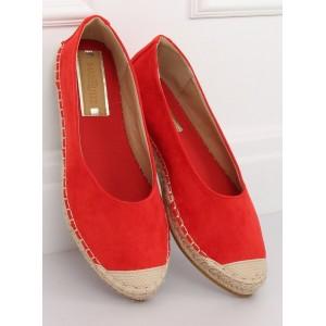Pohodlné dámské nasouvací espadrilky ve výrazné červené barvě