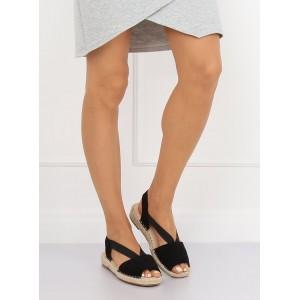 Černé dámské espadrilky s módním designem