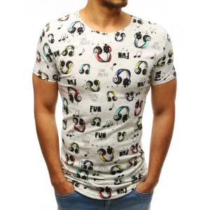 Stylové pánské tričko prodlouženého střihu s potiskem LOVE MUSIC