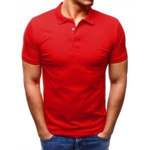 Stylová polokošile červené barvy pro pány