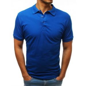 Trendy pánská polokošile modré barvy