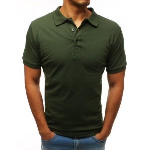 Pánská polokošile s krátkým rukávem v khaki barvě