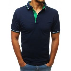 Tmavě modré pánské polo tričko s krátkým rukávem