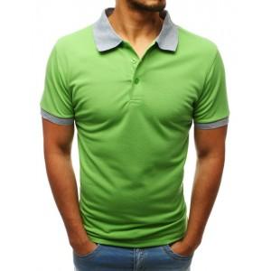 Trendy pánské polo tričko ve výrazné letní zelené barvě