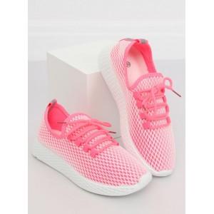 Sportovní dámské boty v růžové barvě na šněrování