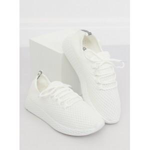 Dámské tenisky v bílé barvě na šněrování