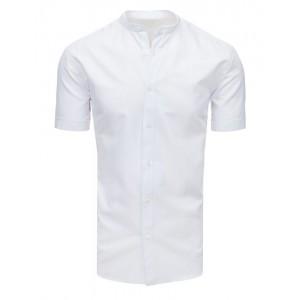 Pánská společenská košile bílé barvy s krátkým rukávem