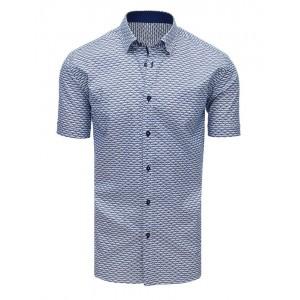 Moderní vzorovaná pánská košile s krátkým rukávem
