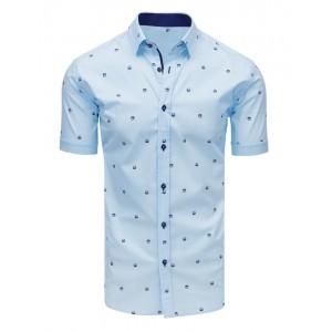 Pánská košile s krátkým rukávem světle modré barvy
