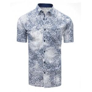 Letní pánská košile bílé barvy s trendovým vzorem