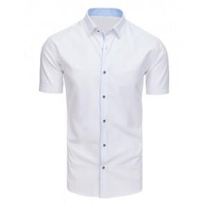 Bílá pánská společenská košile s krátkým rukávem