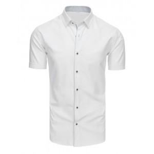 Pánská košile slim fit s krátkým rukávem bílé barvy