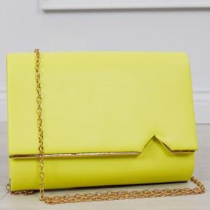 Moderní dámská kabelka v krásné výrazné žluté barvě