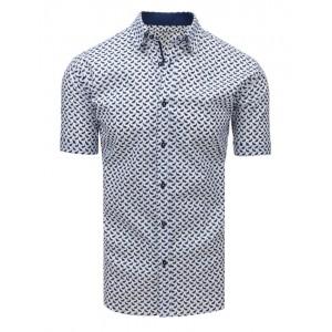 Stylová vzorovaná pánská košile s krátkým rukávem