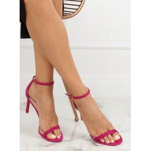 Letní dámské páskové sandály bordó barvy
