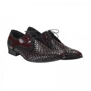 Pánské kožené elegantní boty proplétané COMODO E SANO Italy