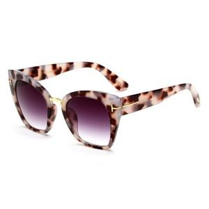 Velké dámské sluneční brýle s tygrovaným motivem