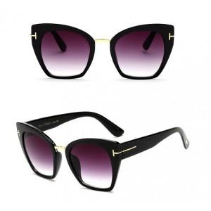 Velké dámské sluneční brýle černé barvy