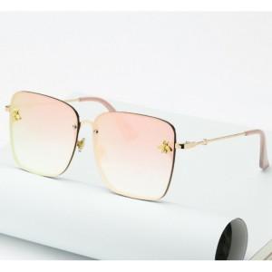 Elegantní bezrámové sluneční brýle růžové barvy