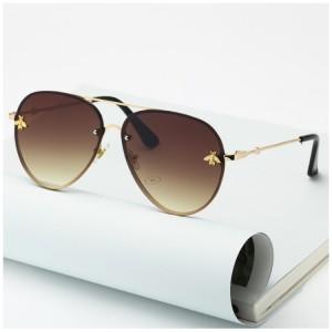 Matné kulaté sluneční brýle pro dámy