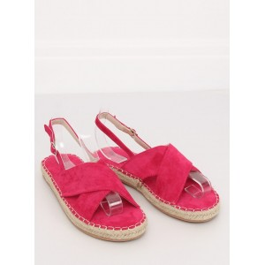 Krásné dámské letní sandály ve fuchsiové barvě