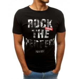 Stylové pánské tričko černé barvy s krátkým rukávem