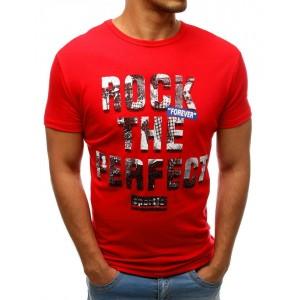 Trendové letní pánské tričko červené barvy