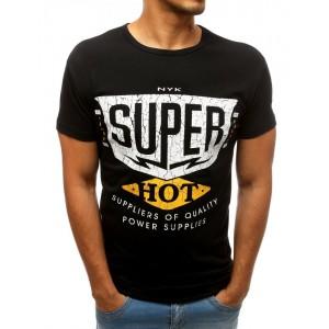 Letní pánské tričko s krátkým rukávem černé barvy